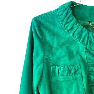 TENAX LEATHER SUEDE GREEN SPRING JACKET